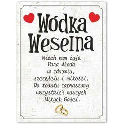 "Etykiety na butelkę ""Wódka Weselna"", 12,5x9,5 cm, 25 szt"
