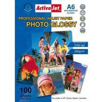 Papiery fotograficzne, Activejet Photo Glossy A6 (AP6-260GR100) 100 ark Darmowy odbiór w 21 miastach!