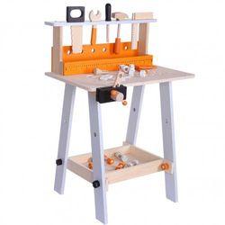 Drewniany warsztat narzędziowy z akcesoriami