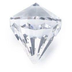 Zawieszka Diament bezbarwny - 31 x 37 mm - 5 szt.