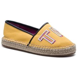Espadryle TOMMY HILFIGER - Colorful Tommy Flat Espadrille FW0FW04166 Spectra Yellow 730