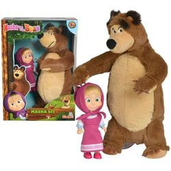 Masza i niedźwiedź zestaw miś+lalka mały simba