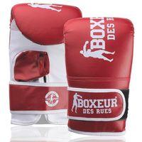 Rękawice do walki, Rękawice bokserskie BOXEUR BXT-5140 (rozmiar L) Czerwono-biały