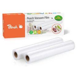 Folia Peach do zgrzewarki (pakowarki) próżniowej PH100, 2 rolki 28x300cm, 2x90 mikronów, 7 warstw