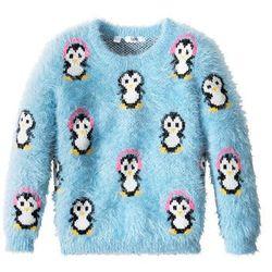 Sweter z zimowym motywem bonprix jasnoniebieski