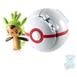 Pokemon Premier Ball Throw 'N' Pop z figurką Chespin TOMY