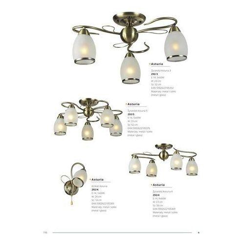 Lampy sufitowe, Żyrandol Asturia 5 292/5 - Lampex - Sprawdź kupon rabatowy w koszyku