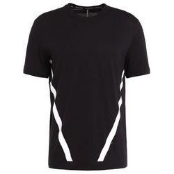 Neil Barrett BLACKBARRETT GRAPHIC STRIPE TSHIRT Tshirt z nadrukiem black/white