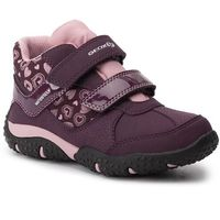 Półbuty i trzewiki dziecięce, Trzewiki GEOX - J Baltic G. B Wpf B J942VB 0FUCE C8224 S Purple/Pink
