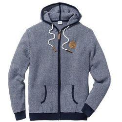 Sweter rozpinany z kontrastowymi elementami bonprix ciemnoniebiesko-biały
