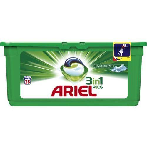 Pozostałe do prania, Żelowe kapsułki piorące Ariel Mountain Spring Nice Smell 837 g (28 sztuk)