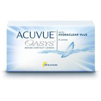 Soczewki kontaktowe, Acuvue Oasys Hydraclear Plus - 6 sztuk