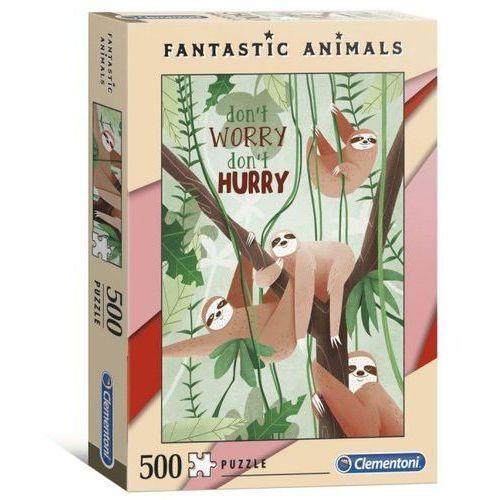 Puzzle, Puzzle 500 Fantastic Animals - Leniwce