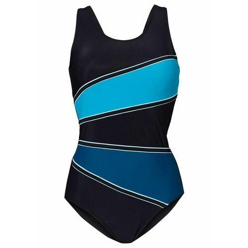 Stroje kąpielowe, Kostium k?pielowy shape Level 3 bonprix czarny-niebieskozielony morski