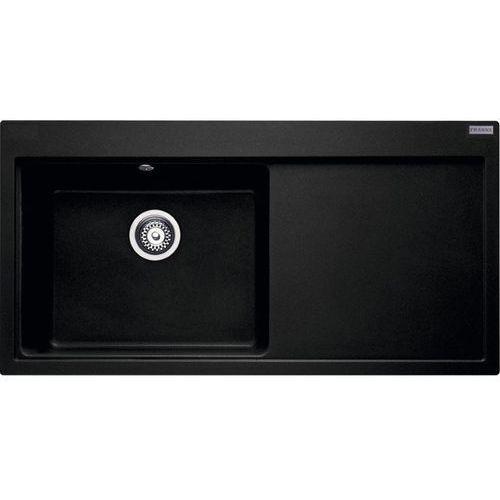 Zlew Franke MTG 611 komora z lewej Onyx 114.0158.623 (zamów wycięcie otworów gratis), kolor czarny