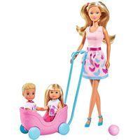 Pozostałe lalki i akcesoria, Steffi Opiekunka Evi i Timmiego