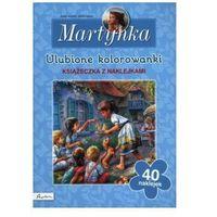 Kolorowanki, Ulubione kolorowanki, książeczka z naklejkami, Martynka - Gilbert Delahaye
