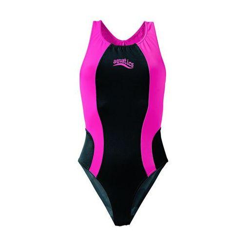 Stroje kąpielowe dla dzieci, Strój kąpielowy dziewczęcy bonprix czarno-różowy