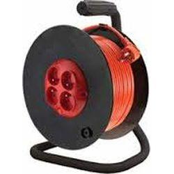 Przedłużacz na bębnie 40m 3x1mm z wyłącznikiem termicznym PZB-40-40Y/1 ELGOTECH