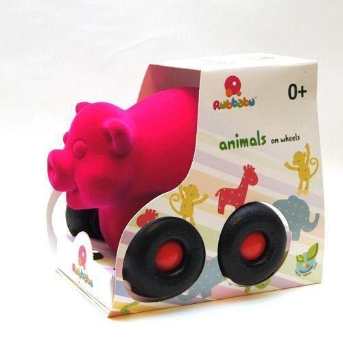 Pozostałe zabawki dla najmłodszych, Pojazd - świnka różowa