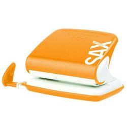 Dziurkacz SAXDesign 318, dziurkuje do 20 kartek, pomarańczowy, display