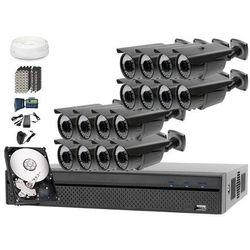 Zestaw monitoringu: Rejestrator BCS-XVR1601, 16x Kamera LV-AL60HVT, 1TB, akcesoria