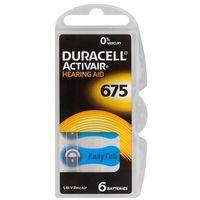Baterie, 6 x baterie do aparatów słuchowych Duracell ActivAir 675 MF