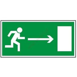 Znak Kierunek do wyjścia drogi ewakuacyjnej (w prawo)