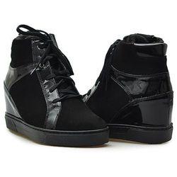 Sneakersy Eksbut 67-4731-549/121-G Czarne nubuk