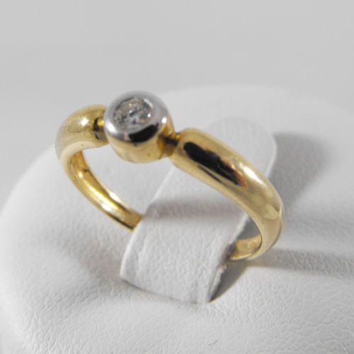 Pierścionki i obrączki, Złoty pierścionek z brylantem P1422
