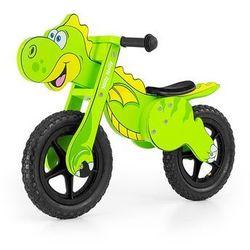 Rowerek biegowy drewniany dino green