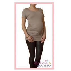 Bluzka ciążowa podkreślająca brzuszek Popielata kr. Rękaw