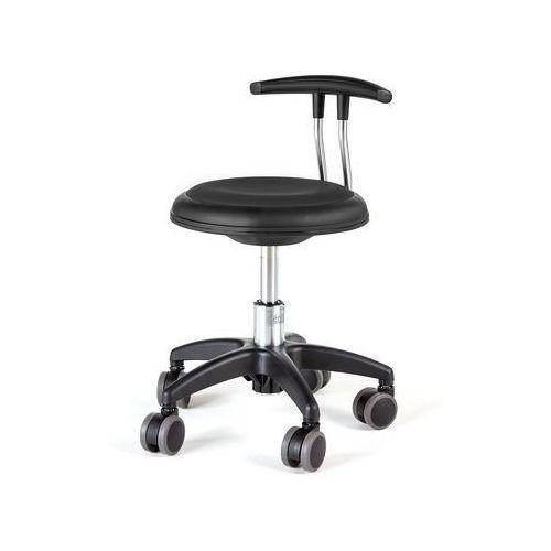 Pozostałe meble biurowe, Mobilny stołek STAR, 300-380 mm, czarny
