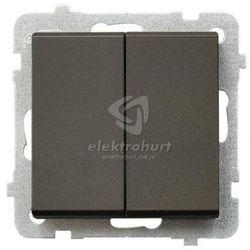 Przełącznik świecznikowy Ospel Sonata ŁP-2R/M/40 czekoladowy metalik
