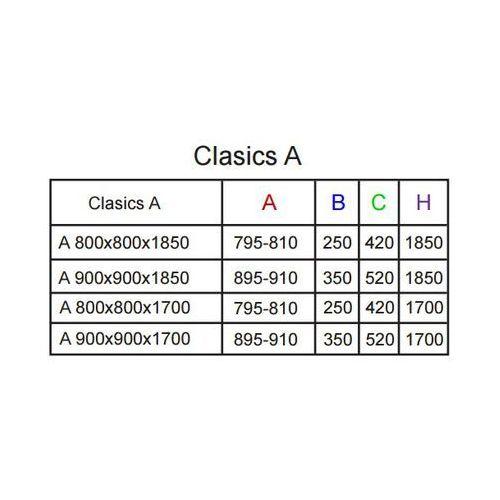 Kabiny prysznicowe, Radaway Classic a 1700 80 x 80 (30011-04-01)