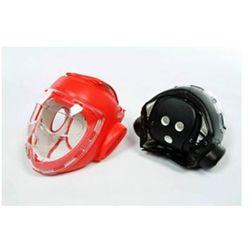 Biały kask z maską - sztuczna skóra (GTTB109AW-S)