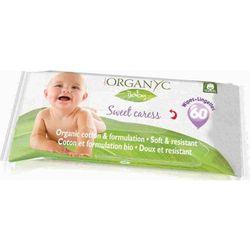 ORGANYC Bawełniane chusteczki higieniczno-nawilżające dla dzieci 60szt.