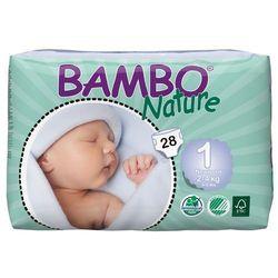 - BAMBO NATURE - Pieluchy Jednorazowe - Ekologiczne - Zdrowe 1 Noworodek 2-4kg