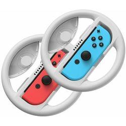 Baseus zestaw 2x kierownica do Nintendo Switch nakładka na Joy-Con joystick pad szary (GMSWB-0G) - Szary