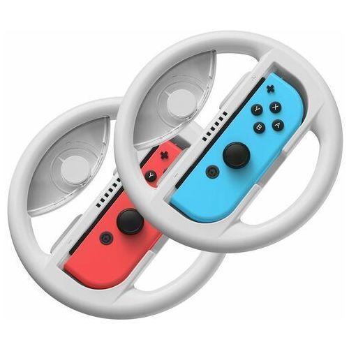 Joysticki, Baseus zestaw 2x kierownica do Nintendo Switch nakładka na Joy-Con joystick pad szary (GMSWB-0G) - Szary