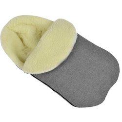 Ciepły śpiworek do wózka fotelika szpitala wełniany LEN