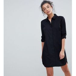 ASOS DESIGN Tall cotton mini shirt dress - Black