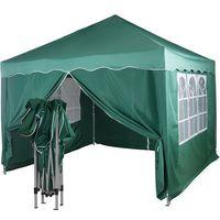 Namioty ogrodowe, EKSPRESOWY ZIELONY PAWILON NAMIOT OGRODOWY 3X3M + 4 ŚCIANKI - Zielony