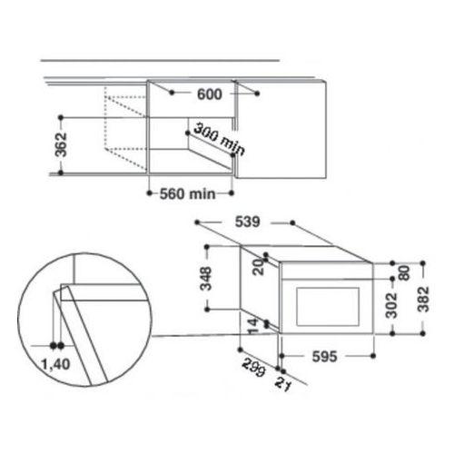 Mikrofalówki do zabudowy, Whirlpool AMW 498