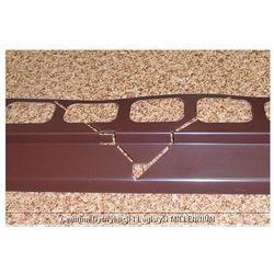 Profil aluminiowy balkonowy narożny 2.0m brązowy - listwa balkonowa narożna brązowa