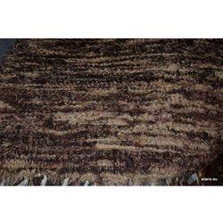 Chodnik bawełniany ręcznie tkany brąz-ecru 65x120 cm