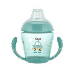 Canpol babies kubek niekapek z silikonowym smoczkiem 230 ml Toys, turkusowy