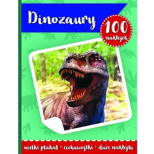 Książki dla dzieci, 100 naklejek. Dinozaury w.2 (opr. broszurowa)