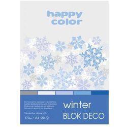 Blok deko winter A4 170g 20ark 5 kolorów. Darmowy odbiór w niemal 100 księgarniach!