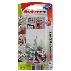 Kołek uniwersalny Fischer Duopower 6 x 30 z hakiem 6 szt.